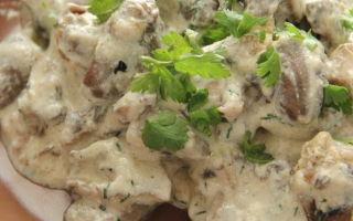 Куриные сердечки с шампиньонами: фото и рецепты приготовления салатов и других блююд