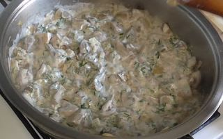 Как приготовить шампиньоны со сметаной: фото, рецепты приготовления жареных грибов и других блюд