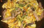 Картошка с мясом и грибами: рецепты приготовления с фото блюд в духовке и на сковородке