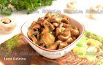 Вторые блюда с грибами шампиньонами: фото и рецепты со свежими и маринованными шампиньонами