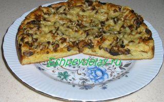 Пицца с белыми грибами: рецепт с фото, как приготовить в домашних условиях