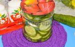 Хрустящие маринованные огурцы в банках на 1 литр на зиму — 5 рецептов с фото пошагово