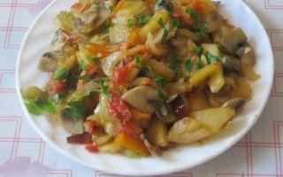 Рецепты картошки с грибами в мультиварке с фото и видео: приготовление с кабачком, перцем, фасолью