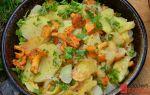 Как пожарить лисички с картошкой на сковороде: фото, рецепты жареных грибных блюд с видео