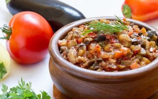 Лечо из баклажан и сладкого перца на зиму — простой рецепт приготовления с пошаговыми фото
