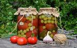 Помидоры с виноградом на зиму — пошаговый рецепт с фото