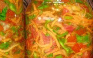 Салат Кубанский с помидорами на зиму — рецепт с пошаговыми фото