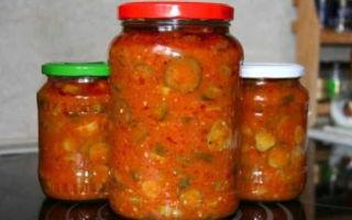 Салат Осенний с помидорами, огурцами, перцем на зиму — рецепт приготовления с пошаговыми фото