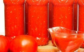 Помидоры в томатной пасте на зиму с уксусом — рецепт с пошаговыми фото