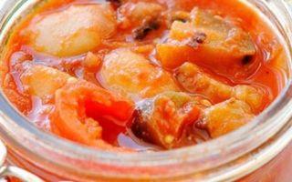 Салат из кабачков и баклажанов на зиму — рецепт с пошаговыми фото