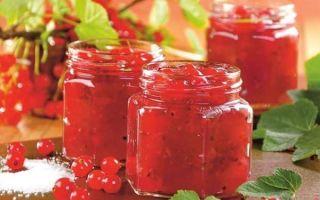Повидло из красной смородины пятиминутка на зиму — простой пошаговый рецепт