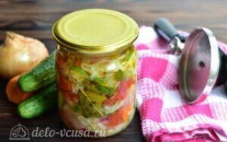 Салат охотничий с капустой и огурцами на зиму — простой и вкусный рецепт с фото