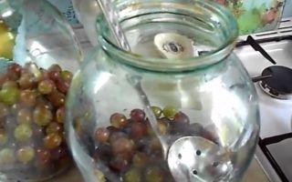 Компот из слив и винограда на зиму — простой пошаговый рецепт