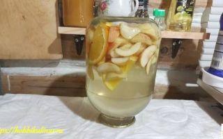 Компот из яблок с апельсином на зиму — рецепт с пошаговыми фото
