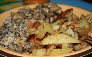Грибы грузди с картошкой: как готовить в духовке и мультиварке, как вкусно пожарить