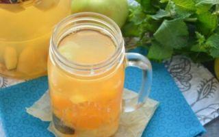 Компот из абрикосов с косточками на 1 литровую банку на зиму — рецепт с пошаговыми фото