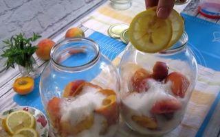Компот из вишни и персиков на 3-х литровую банку на зиму — простой рецепт от автора
