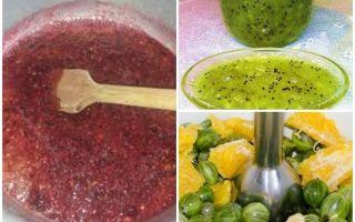 Крыжовник без варки на зиму — 8 рецептов с пошаговыми фото