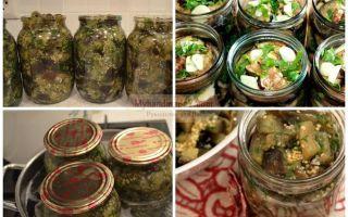 Баклажаны на зиму с чесноком — простой пошаговый рецепт