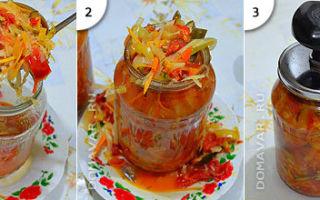 Салат Дунайский по ГОСТу на зиму — рецепт с пошаговыми фото