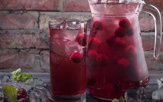 Компот из черники с вишней на зиму — рецепт с пошаговыми фото