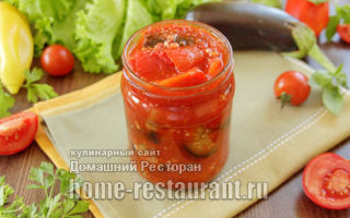 Баклажаны и перец в томатном соусе на зиму — рецепт приготовления с пошаговыми фото