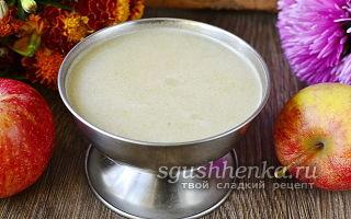 Яблочное пюре с желатином на зиму — рецепт в домашних условиях с фото