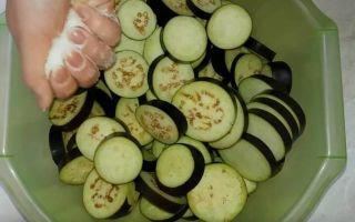 Салат из жареных баклажанов, болгарского перца и помидоров на зиму — пошаговый рецепт с фото