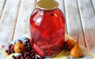 Компот из черешни и вишни на зиму — простой рецепт на 3-х литровую банку с фото