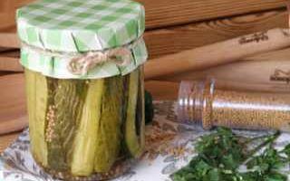 Огурцы в литровых банках с горчицей на зиму — рецепт приготовления с пошаговыми фото