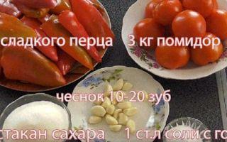 Помидоры с болгарским перцем через мясорубку на зиму — простой рецепт от автора пошагово