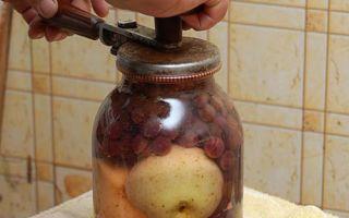 Компот из винограда без стерилизации в литровых банках на зиму — простой рецепт в пошаговыми фото