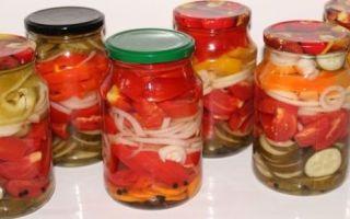 Помидоры и огурцы в желатине на зиму — вкусный рецепт с пошаговыми фото