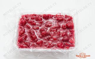 Малина протертая с сахаром без варки в морозилке на зиму — простой и вкусный рецепт с пошаговыми фото
