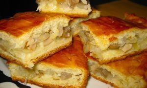 Как приготовить пирог с груздями и картошкой: рецепты с солеными и свежими грибами, слоеным тестом