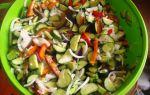 Салат на зиму из огурцов и сладкого перца — 5 рецептов с фото пошагово