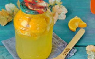Компот из черники с апельсином на зиму — рецепт с пошаговыми фото