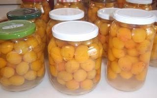 Компот из желтой сливы с косточками на зиму — простой пошаговый рецепт