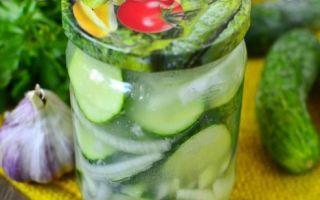 Салат Нежинский из огурцов и помидоров на зиму — пошаговый рецепт с фото