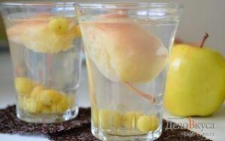 Компот из винограда с яблоками на 3-литровую банку на зиму — простой рецепт в пошаговыми фото