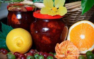 Крыжовник с апельсином на зиму — 19 рецептов заготовок с пошаговыми фото