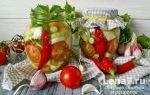 Салат на зиму из огурцов, помидоров, лука — 5 рецептов с фото пошагово