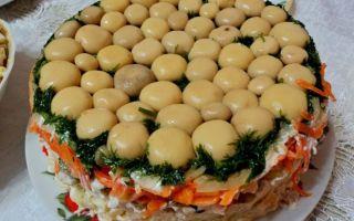 Салат «лесная поляна» с опятами: фото и рецепты приготовления грибных салатов