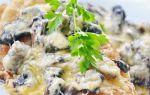 Рыба с шампиньонами: рецепты салатов, супов и вторых рыбных блюд с грибами