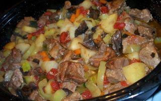 Рецепты мяса, запеченного с грибами: как запечь мясо в мультиварке и духовке