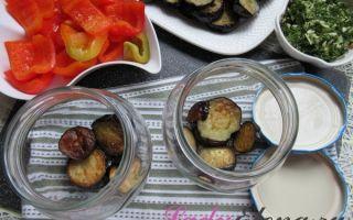 Баклажаны на зиму с болгарским перцем и чесноком — простой пошаговый рецепт