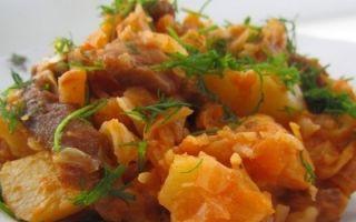 Тушеная и жареная капуста с мясом и грибами: фото, рецепты овощных блюд с мясом