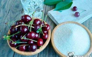 Вишня, протертая с сахаром без варки на зиму — рецепт с пошаговыми фото