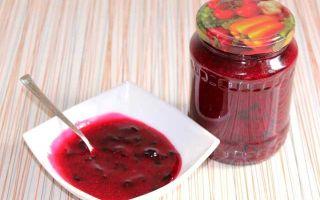 Джем из красной смородины без косточек 5-минутка на зиму — простой пошаговый рецепт