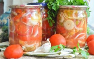 Салат Донской с красными помидорами и огурцами на зиму — рецепт с пошаговыми фото